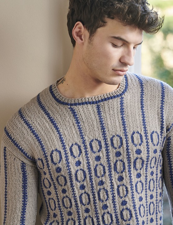 The Knitter 149 men's jumper Pat Menchini