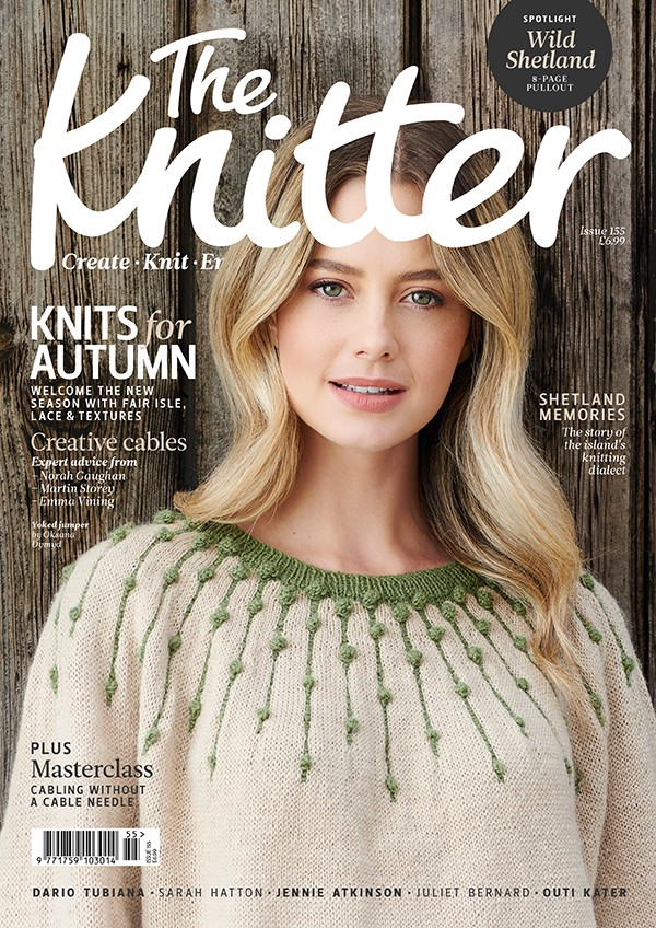The Knitter 155 cover