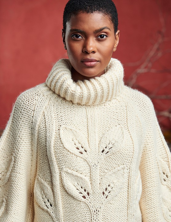 knitwear products projects shot on location with model Candace