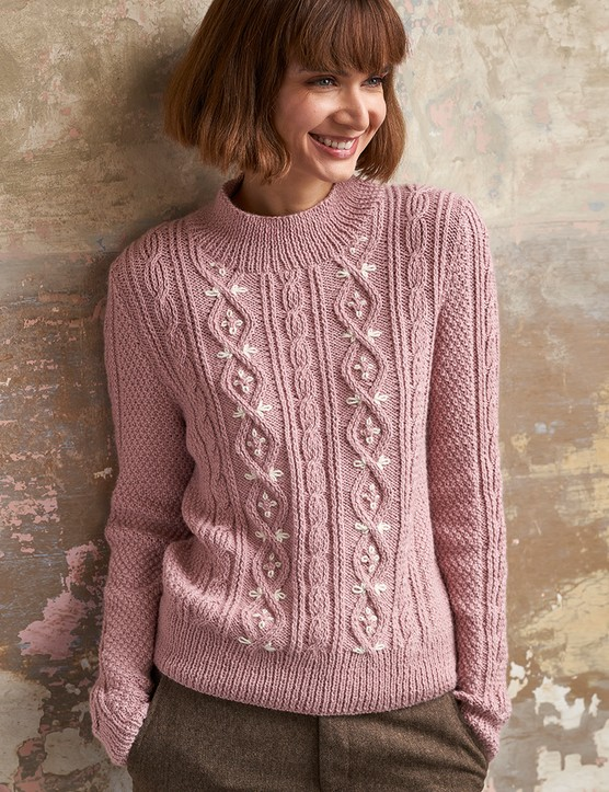 The Knitter 157 Sarah Hatton jumper