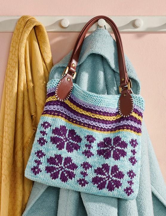 The Knitter 157 Sian Brown bag