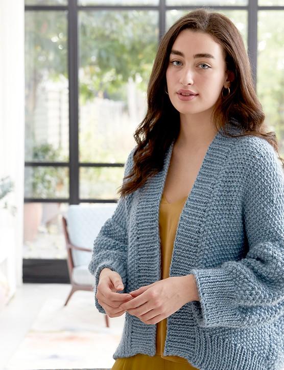 The Knitter 161 jacket Debbie Bliss