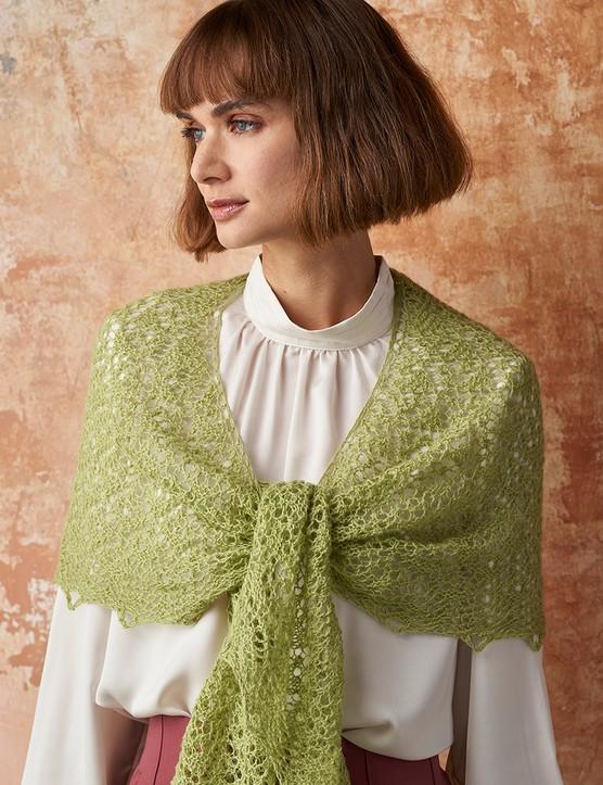 The Knitter 161 shawl Anniken Allis
