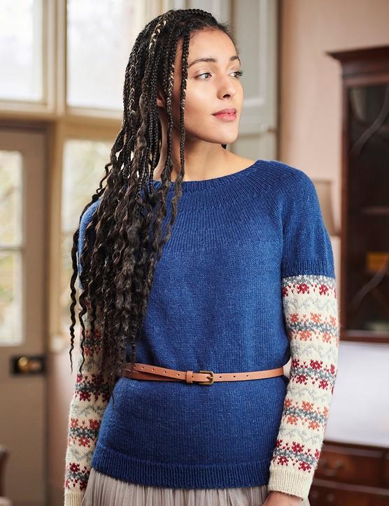 The Knitter 161 top Caroline Birkett
