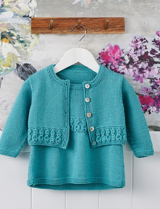 The Knitter 163 baby cardigan