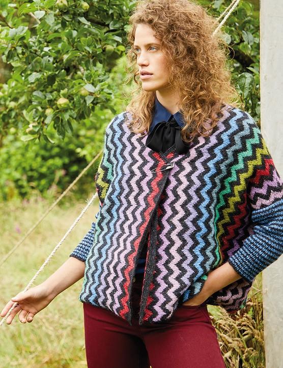 The Knitter 163 zig zag jacket