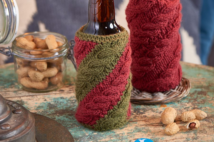 Knit beer cosy pattern
