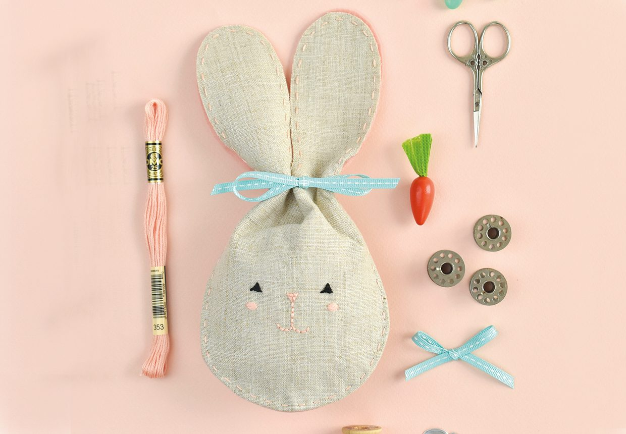 Easter Bunny Embroidery – Danish Knots Made Easy