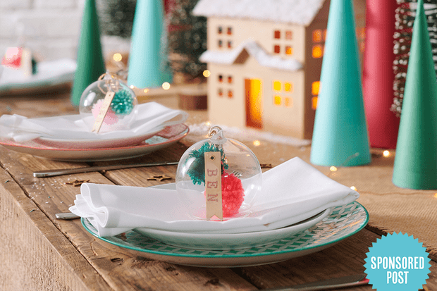 Christmas bauble table decoration