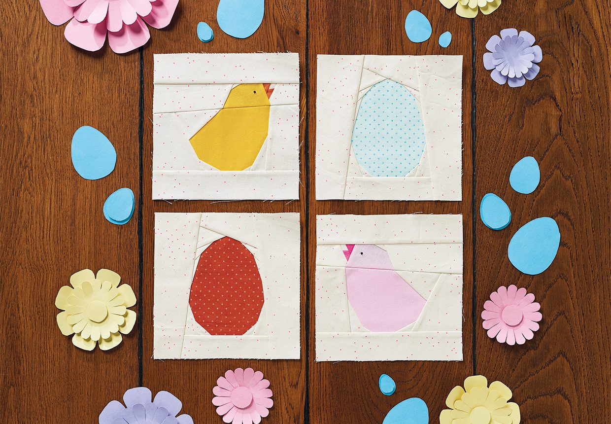 Free Easter Quilt Block Patterns – patchwork chicks and eggs
