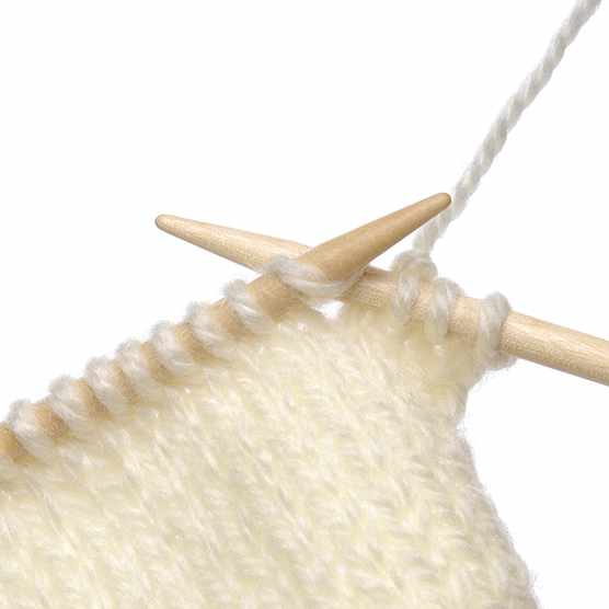 How to do a knit stitch 1