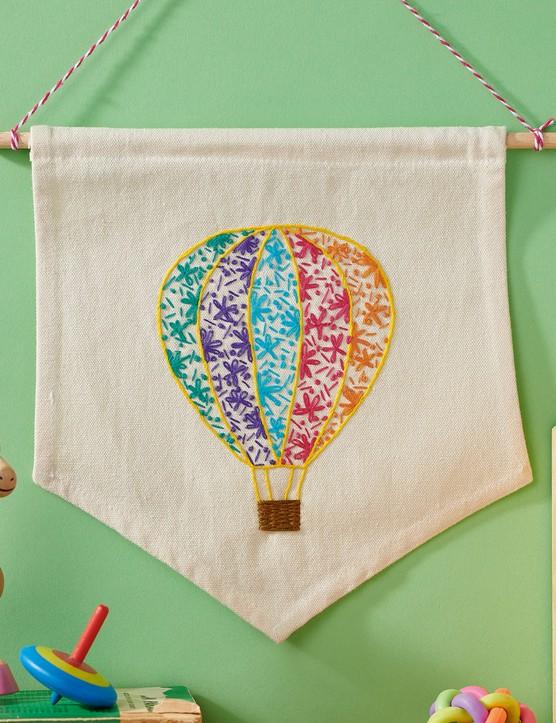 Hot air balloon banner by Georgina Green