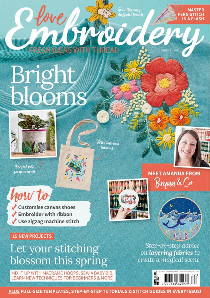 Love Embroidery magazine issue 12