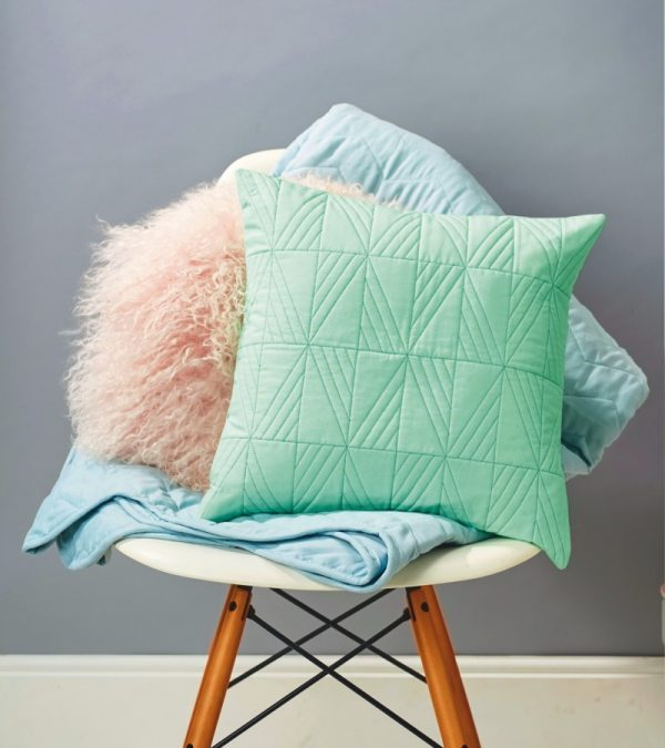 Make a geometric quilted cushion