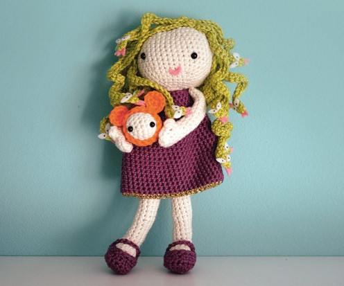 CROCHET PATTERN in English - Sarah the Winter Doll - 11 in./28 cm ... | 413x496