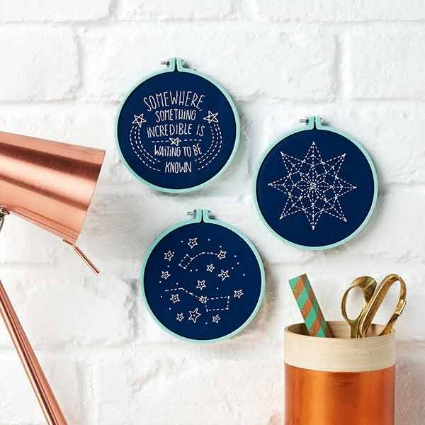Constellation embroidery pattern