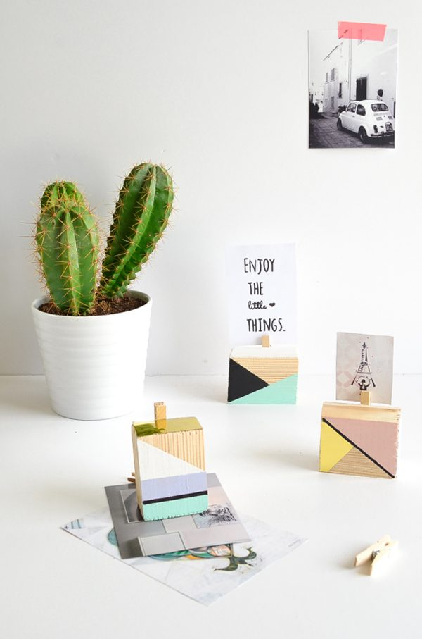 DIY geometric picture holder