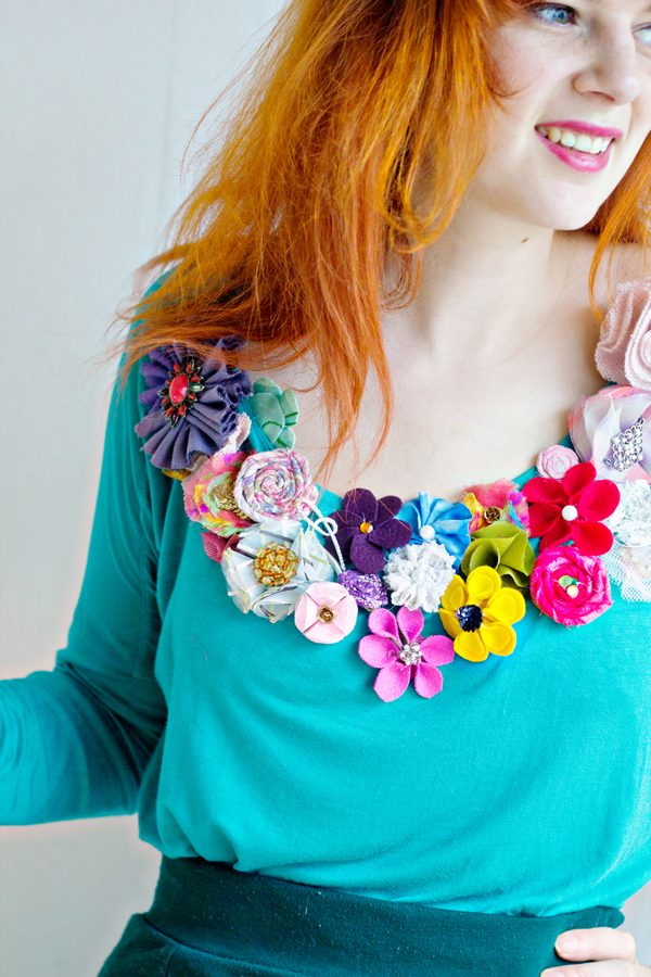 Fabric flower patterns