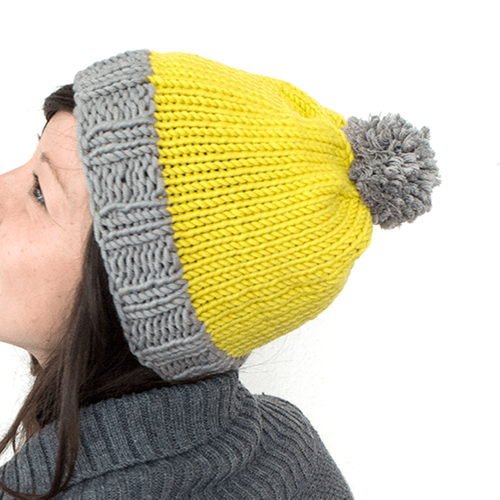 free knitted bobble hat pattern step 8