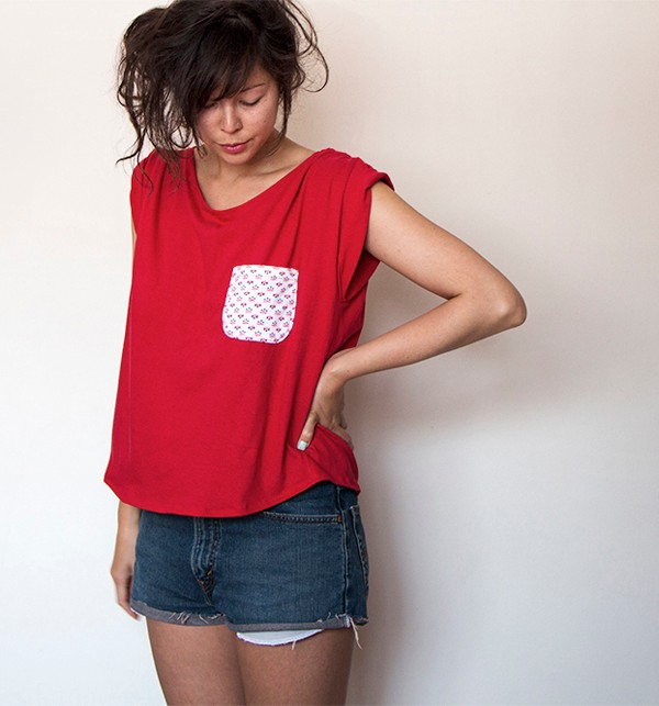 How to sew a pocket - upcycling project!