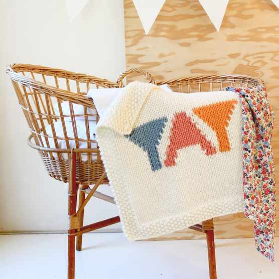 how to start knitting a baby blanket tutorial