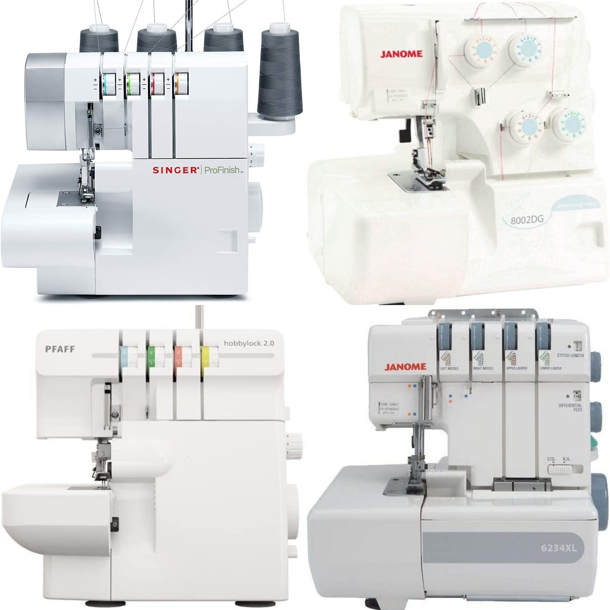 6 Spools of sewing Machine Silk art embroidery thread Black White brother janome