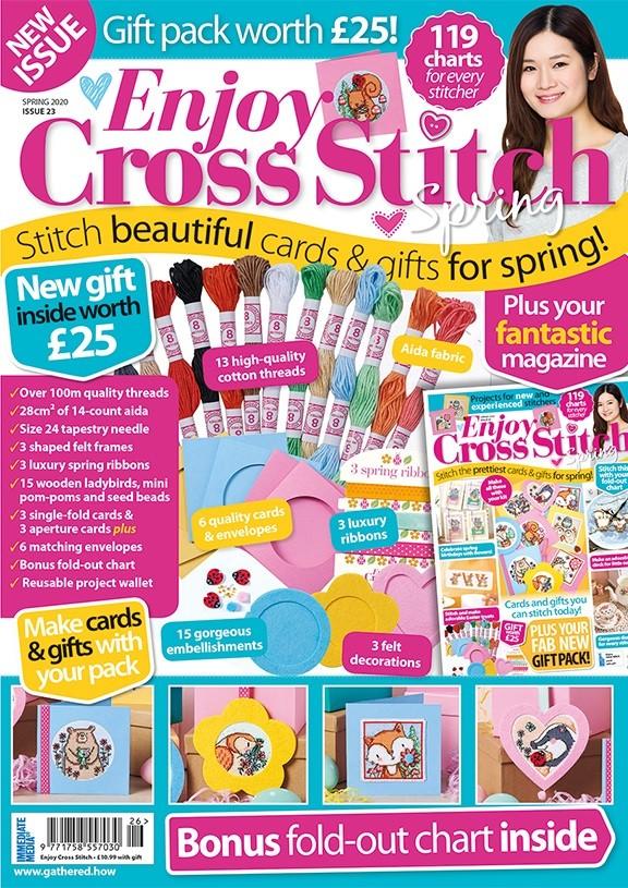 Enjoy Cross Stitch Spring 2020 cover