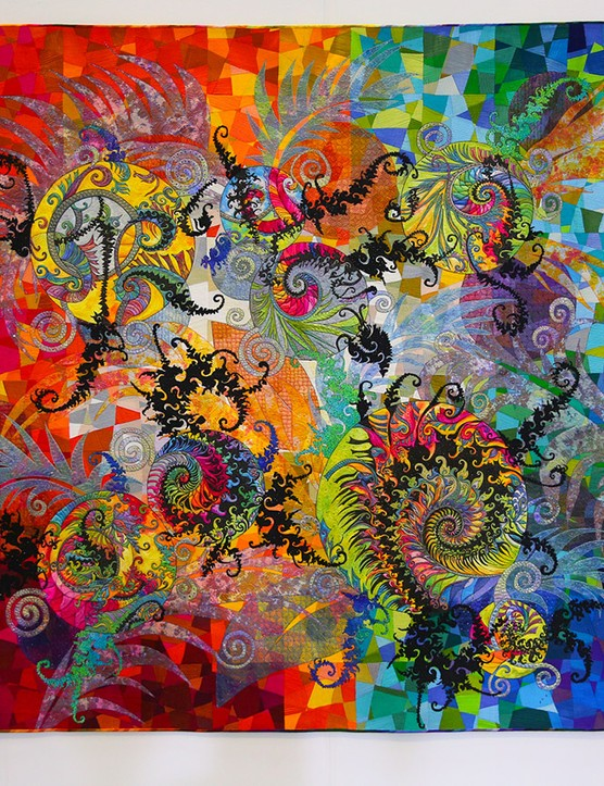 Festival of Quilts Contemporary 1st Claudia Pfeil - Fractal