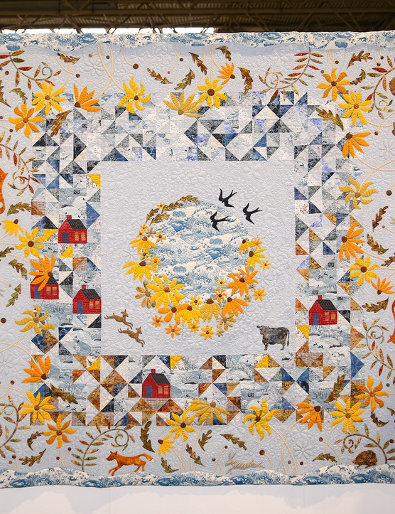 Festival of Quilts Group 1st - Cowslip workshops - over the hills and far away