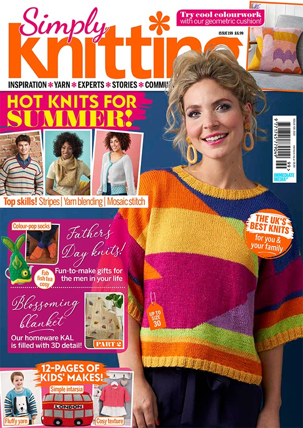 Simply Knitting 199 cover