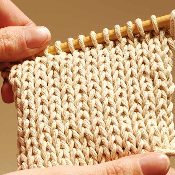 Stockinette stitch (stocking stitch)