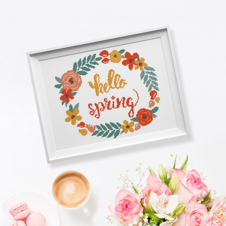 47 spring cross stitch patterns