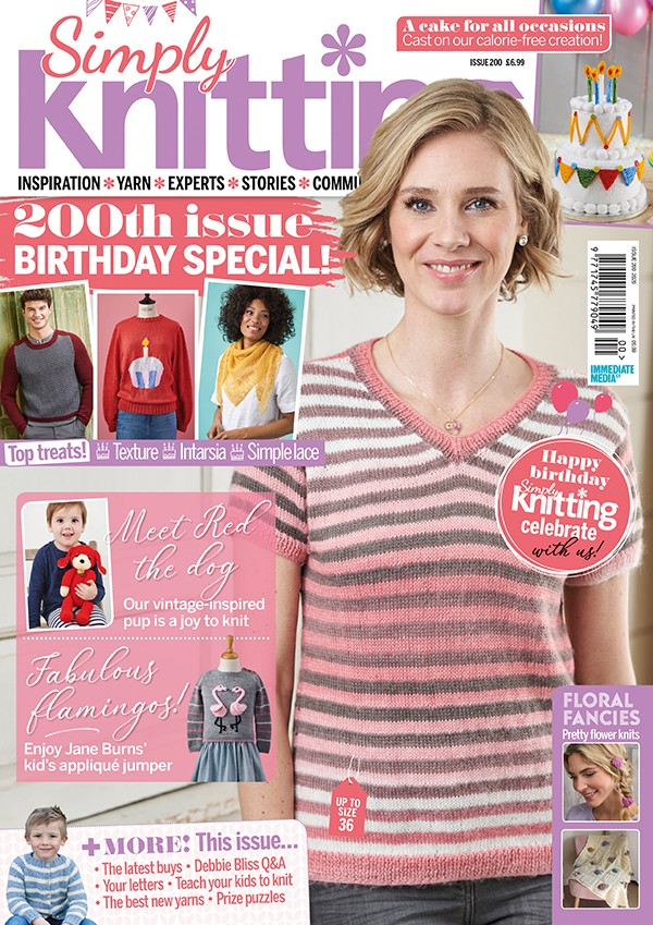 Simply Knitting issue 200 cover