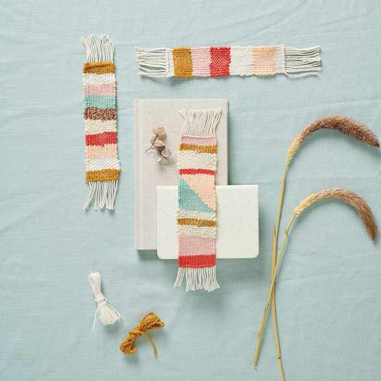 Make your own weaving bookmarks