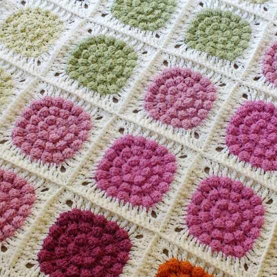 hanjancrochet granny square blanket pattern