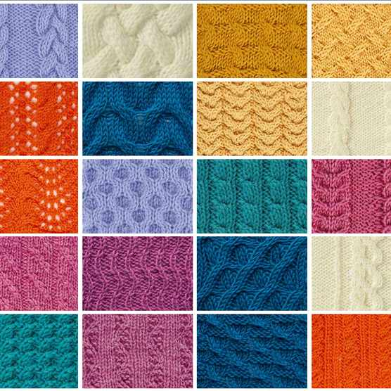 Cable stitch patterns