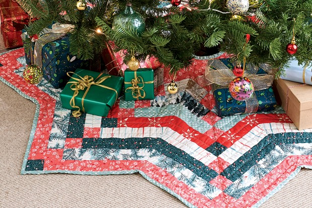 Free Christmas Tree Skirt Pattern Full Templates Instructions Gathered