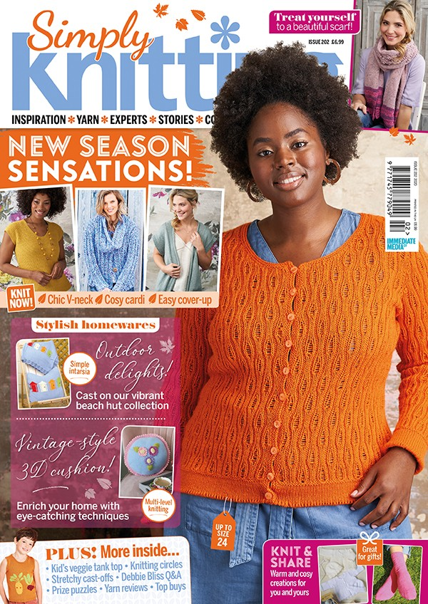 Simply Knitting 202 cover