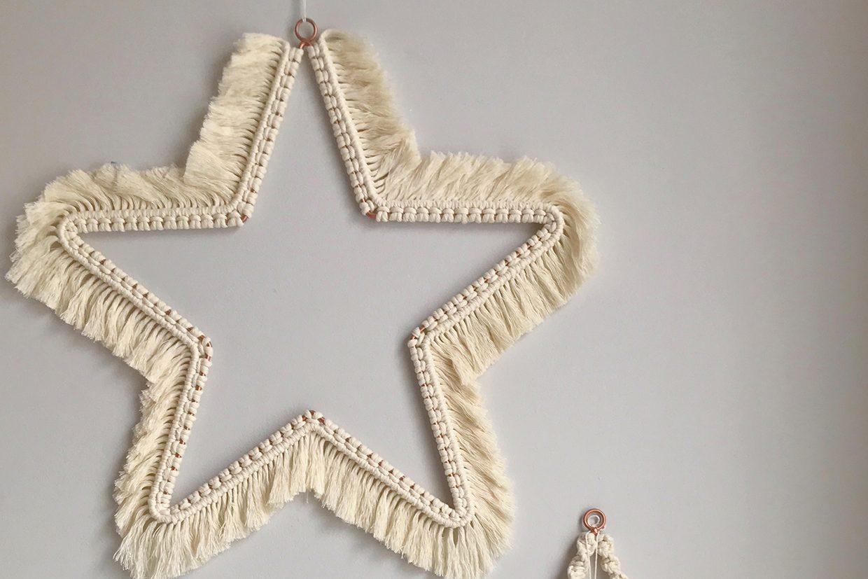 15. How to make a Christmas macrame star