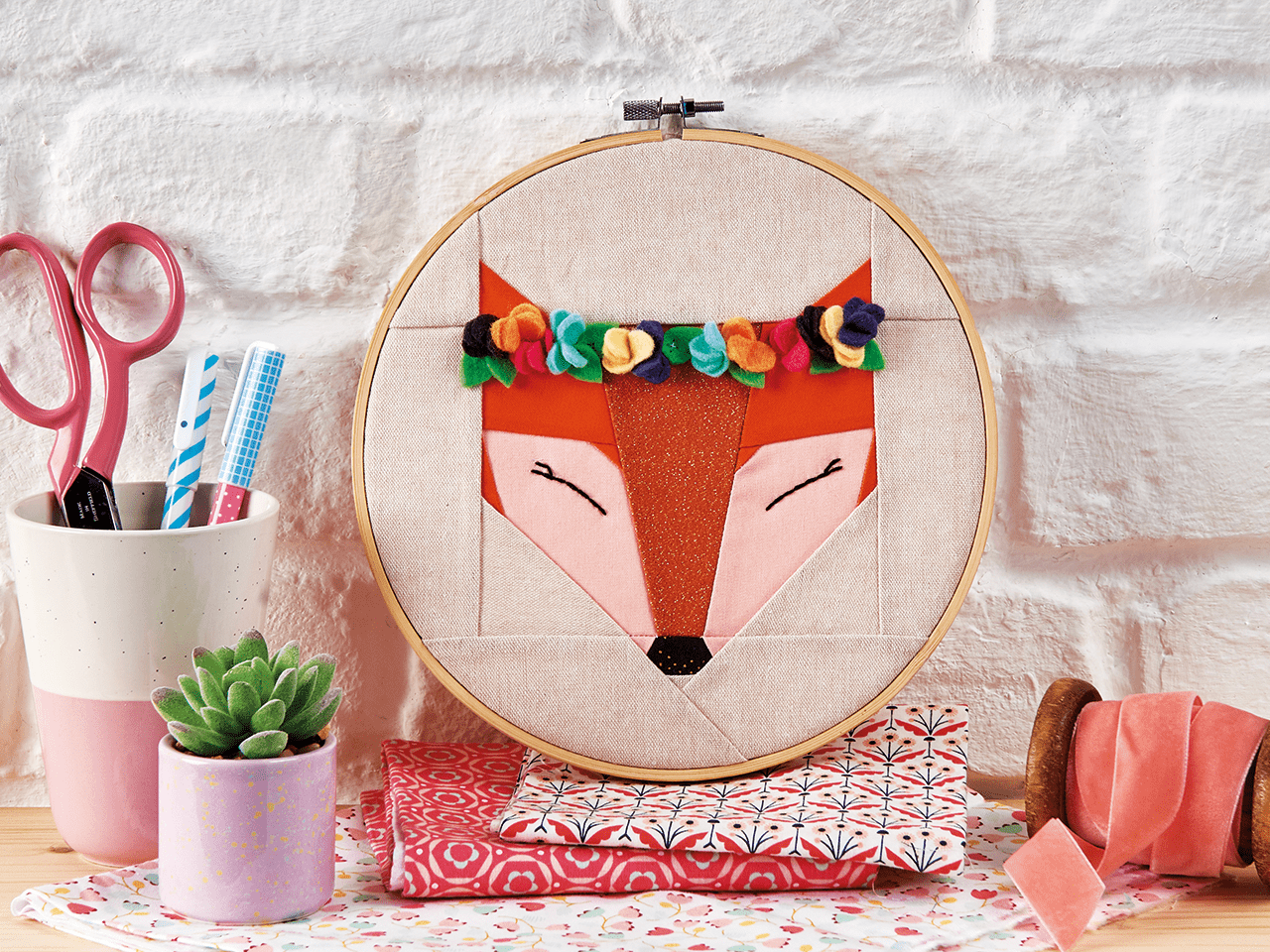 Patchwork fox pattern – have fun with Foundation Paper Piecing