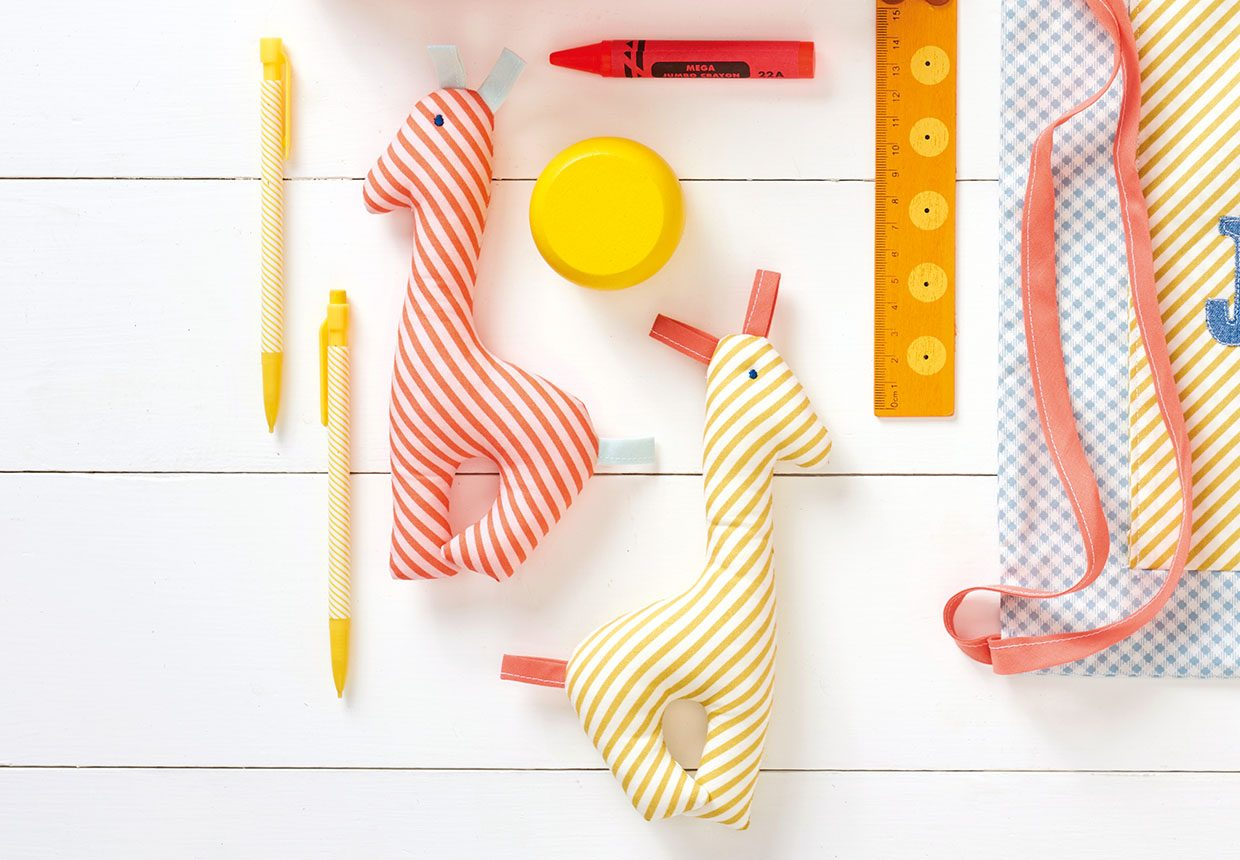 16. How to make a giraffe rattle toy