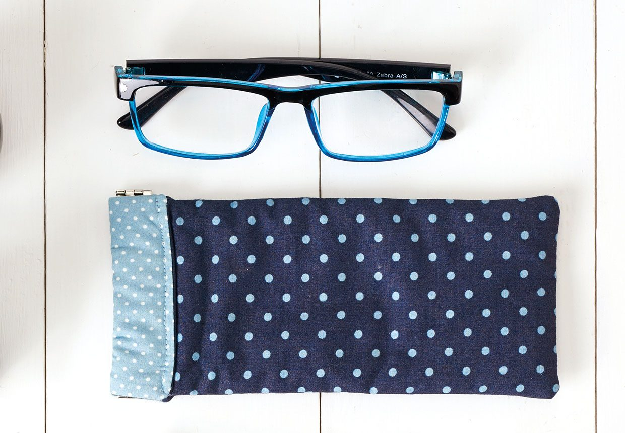 15. How to sew a glasses case