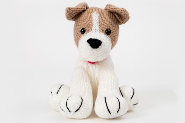 Free knitted dog pattern: Jack Russell
