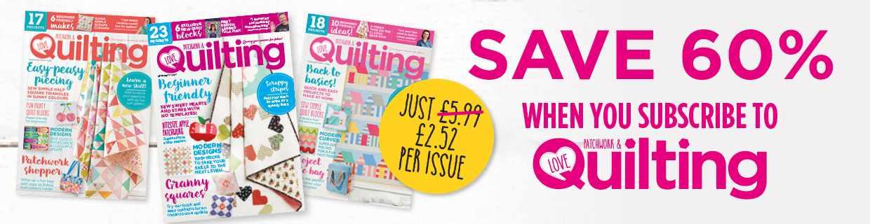 Quilting magazine subscription