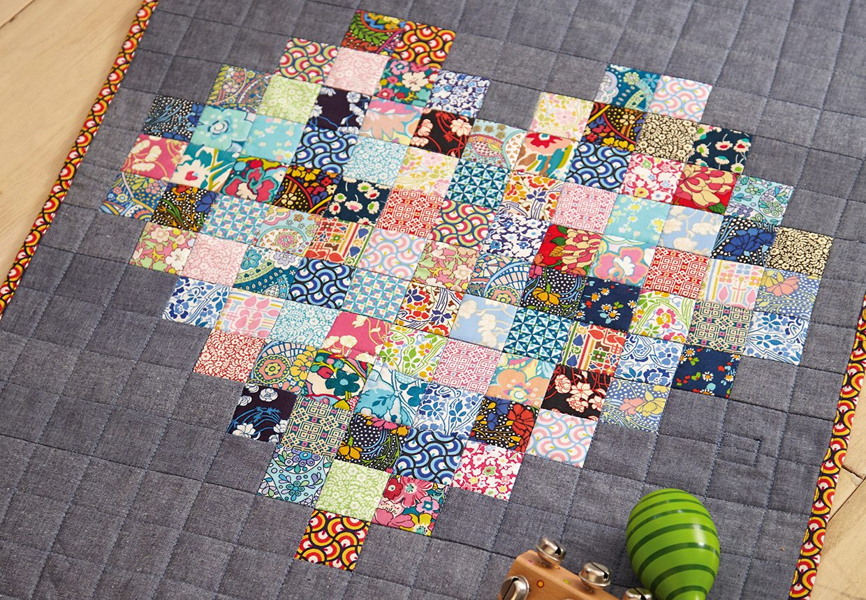 Easy Hearts Quilt Pattern and DIY changing mat