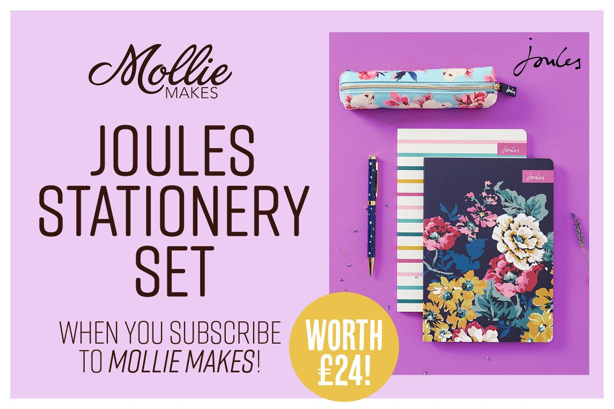 Bonus Joules set worth £24 when you subscribe to Mollie Makes