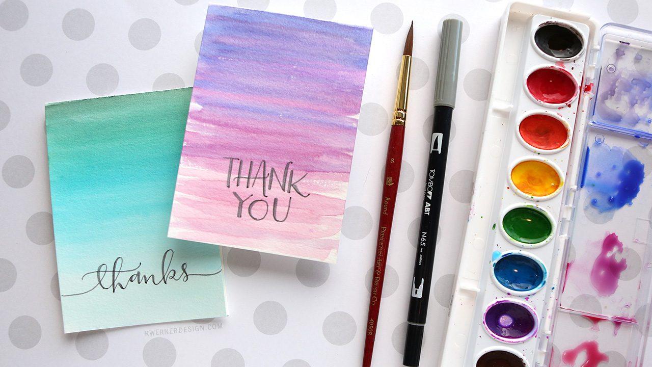 39 homemade thank you card ideas