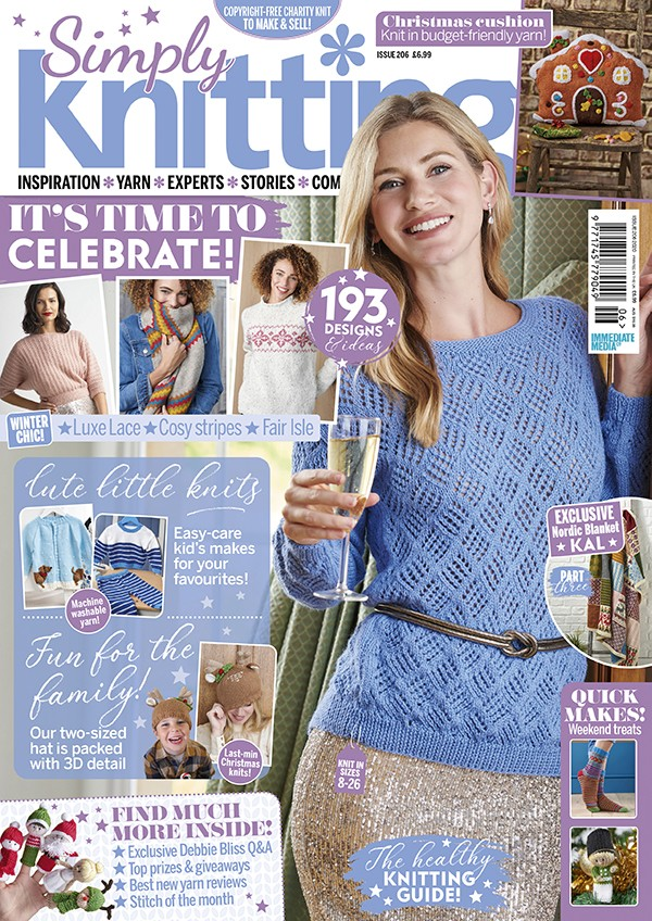 Simply Knitting 206 cover