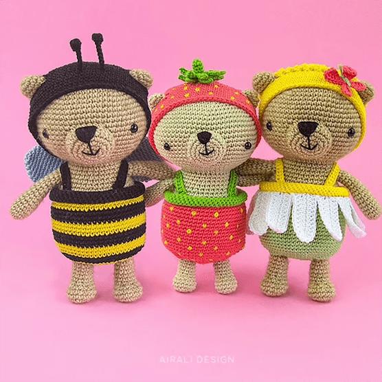 Airali design - crochet teddy bear patterns