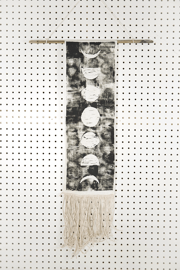 Phases of the moon hanging wall hanging
